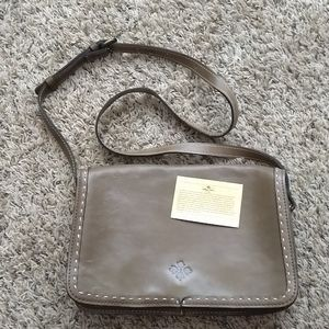 Patricia Nash flip front leather crossbody